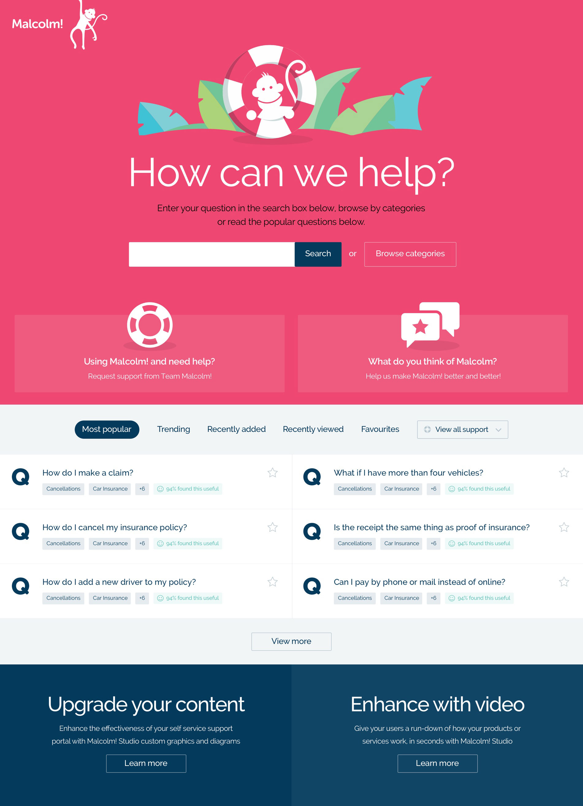 Malcolm! FAQs landing page